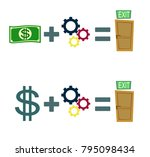 way to exit concept. money and... | Shutterstock .eps vector #795098434