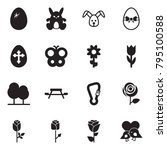 solid black vector icon set  ... | Shutterstock .eps vector #795100588