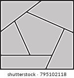 vector frame for photos ... | Shutterstock .eps vector #795102118