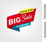 vector banner for big sale | Shutterstock .eps vector #795102283