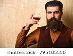 man with beard and mustache... | Shutterstock . vector #795105550
