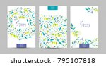 vector set  of the spring... | Shutterstock .eps vector #795107818