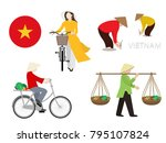 vietnamese cultural and... | Shutterstock .eps vector #795107824