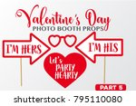 set of valentine's day... | Shutterstock .eps vector #795110080