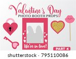set of valentine's day... | Shutterstock .eps vector #795110086