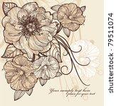 vintage floral illustration of... | Shutterstock .eps vector #79511074