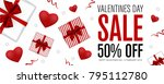 valentines day sale background. ... | Shutterstock .eps vector #795112780
