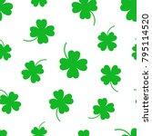 four leaf clover seamless... | Shutterstock .eps vector #795114520