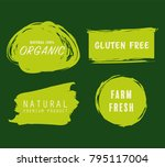 natural and organic green... | Shutterstock .eps vector #795117004