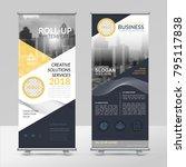 business roll up design... | Shutterstock .eps vector #795117838