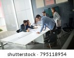 business people conference in... | Shutterstock . vector #795118954