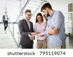 group of business people... | Shutterstock . vector #795119074