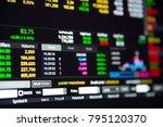 stock market chart or stock... | Shutterstock . vector #795120370