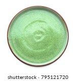 ceramic plate on white... | Shutterstock . vector #795121720