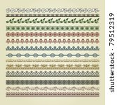 set of vintage borders. could... | Shutterstock .eps vector #79512319