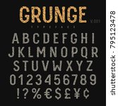 grunge font. rough stamp... | Shutterstock .eps vector #795123478