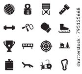 solid black vector icon set  ... | Shutterstock .eps vector #795125668