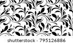 floral seamless pattern.... | Shutterstock .eps vector #795126886
