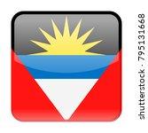 antigua and barbuda flag vector ... | Shutterstock .eps vector #795131668
