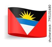 antigua and barbuda flag vector ... | Shutterstock .eps vector #795131680