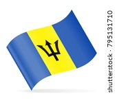 barbados flag vector waving... | Shutterstock .eps vector #795131710
