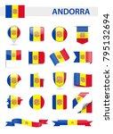 andorra flag set   vector... | Shutterstock .eps vector #795132694