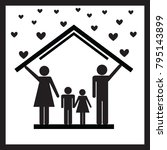 protection of family in home... | Shutterstock .eps vector #795143899