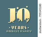 10 years anniversary vector... | Shutterstock .eps vector #795145180