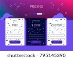 three banners. pricelist ... | Shutterstock .eps vector #795145390