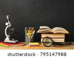 educational background.... | Shutterstock . vector #795147988