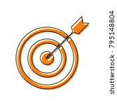 target with dart. vector. black ...   Shutterstock .eps vector #795148804