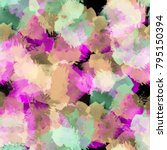 seamless pattern with blots and ... | Shutterstock . vector #795150394