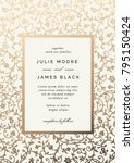 vintage wedding invitation... | Shutterstock .eps vector #795150424
