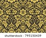 vector floral damask pattern | Shutterstock .eps vector #795150439