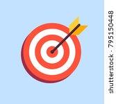 arrow in center of board. flat... | Shutterstock .eps vector #795150448