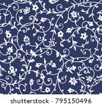 vintage floral pattern. rich...   Shutterstock .eps vector #795150496