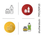 bcaa supplement icon. flat... | Shutterstock .eps vector #795150910