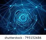 concept of network  blockchain  ... | Shutterstock . vector #795152686