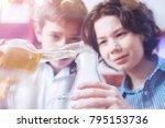 add a little bit more. two... | Shutterstock . vector #795153736