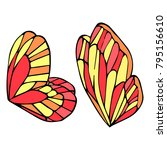 butterfly wings vector... | Shutterstock .eps vector #795156610