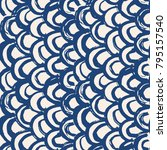 indigo tie dye seamless pattern....   Shutterstock .eps vector #795157540
