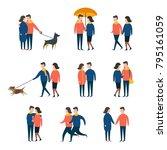 romantic couples  lover people... | Shutterstock .eps vector #795161059