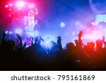 silhouettes of hand in concert... | Shutterstock . vector #795161869