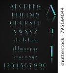design metal alphabet | Shutterstock .eps vector #795164044