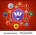 sport flat icon concept. vector ... | Shutterstock .eps vector #795164950