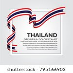 thailand flag background | Shutterstock .eps vector #795166903