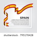 spain flag background | Shutterstock .eps vector #795170428
