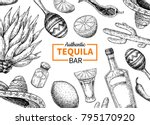 tequila bar vector label.... | Shutterstock .eps vector #795170920
