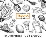 tequila bar vector label.... | Shutterstock .eps vector #795170920