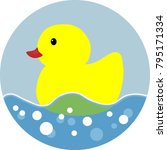 duck spring see saw icon in... | Shutterstock .eps vector #795171334